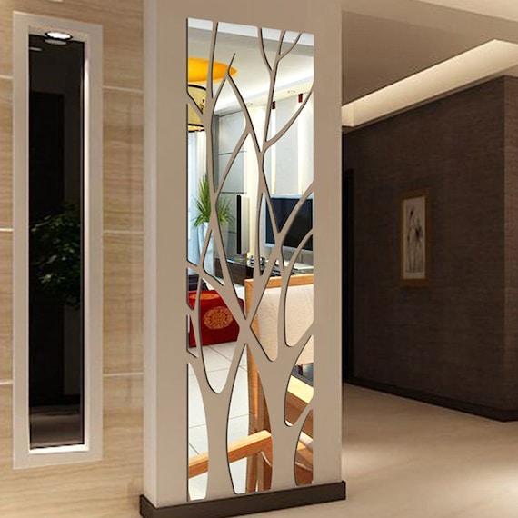 Fashion Sculpture ForestTree Shape 3D Mirror wall decor Living room Decor  wall sticker home decor