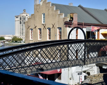 Quaint Bridge near River Street, Savannah Photographic Print