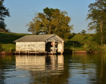 Lake Oconee Boathouse Photographic Print