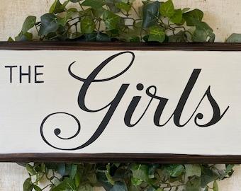 "Chicken Coop Sign~""The girls""-Chicken Coop Decor-Country Decor-Backyard Chickens"