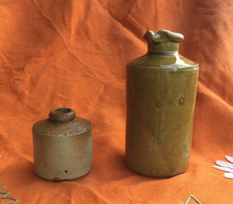Collectibles Art Pottery Antique Vintage Pottery Ink Well