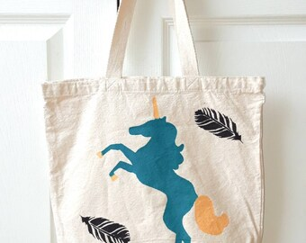 Blue Unicorn Tote