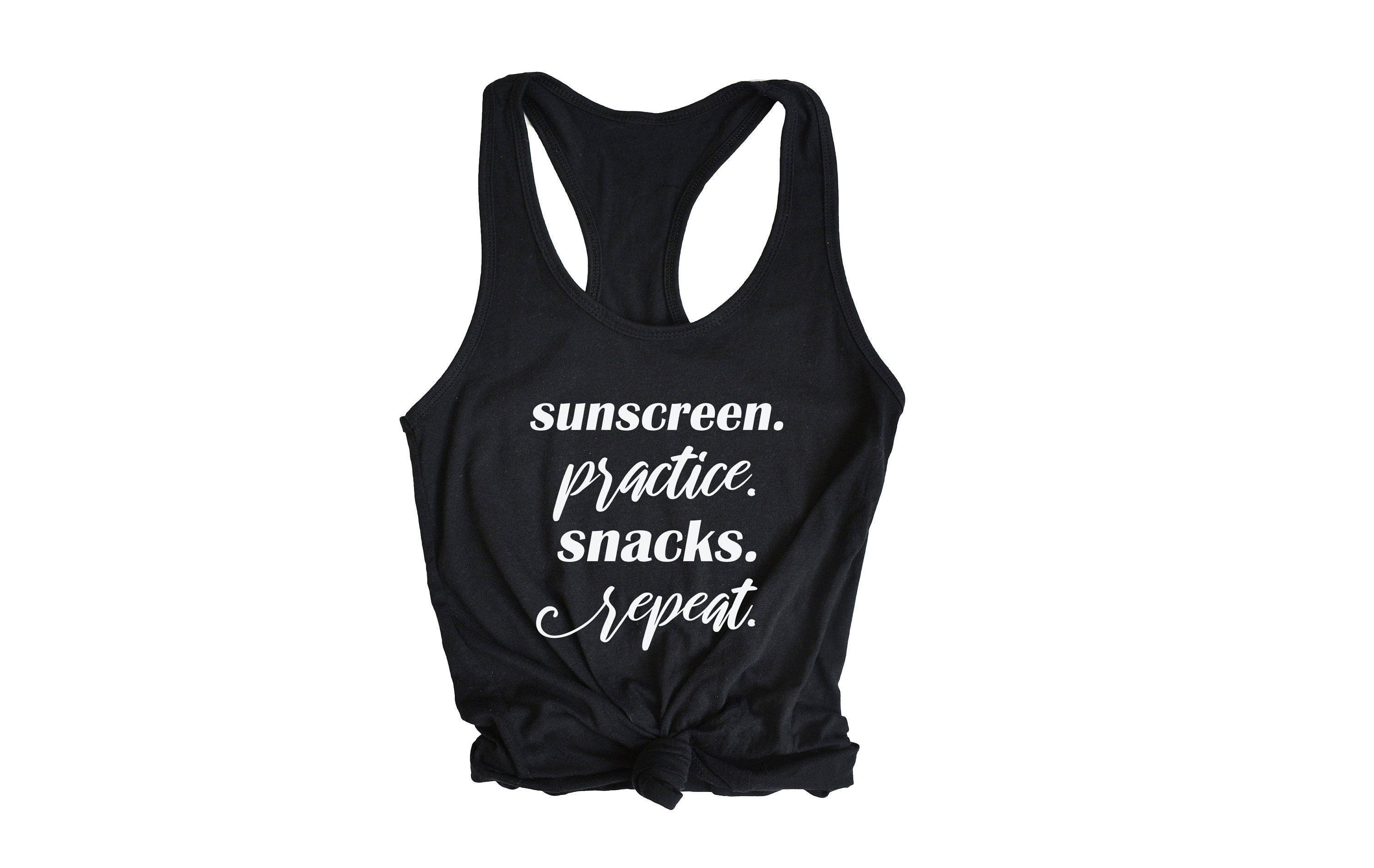 c672c53564 Sunscreen Practice Snacks Repeat Tank Top - Womens Graphic Tank Tops - Tank  Tops for Women- Mom shirts - Shirts for moms