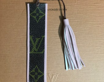 Handmade Louis Vuitton Bookmark-Upcycled Louis Vuitton-Louis vuitton book marker