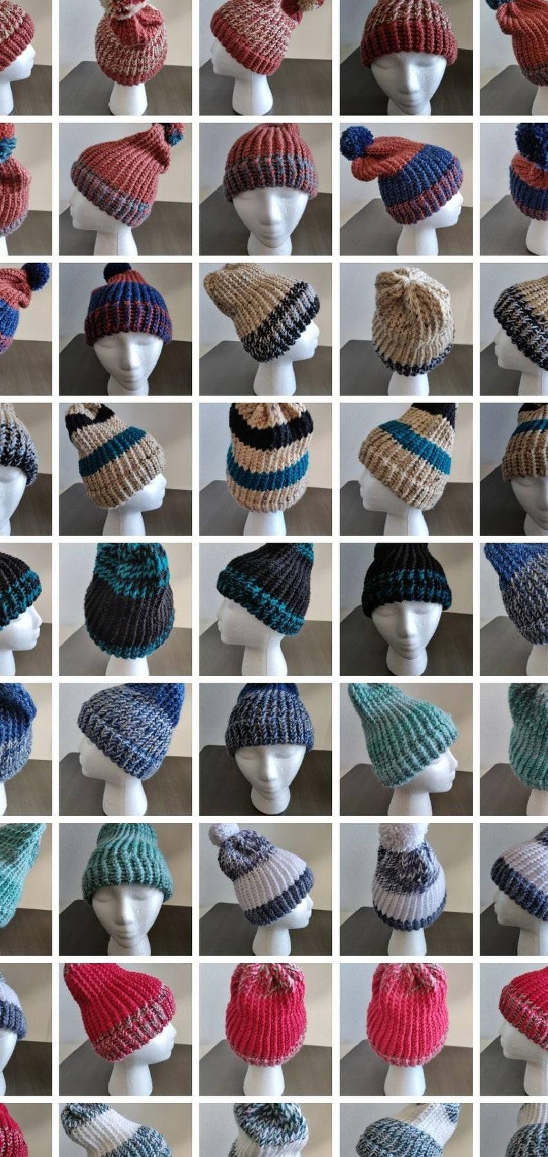 Mens beanie hat Colors- cream /& black knit beanie Womens Winter hat