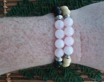 Healing Crystal bracelet: Rose Quartz