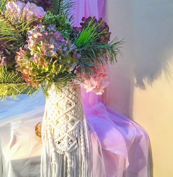 Macrame Bouquet Wrap Country Wedding Rustic Wedding Wedding Accessories Macrame Wedding Bridal Bouquet Wrap Boho Wedding