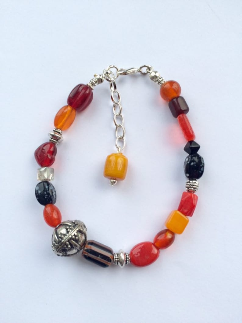 Handcrafted Indian Glass Bead Bracelet