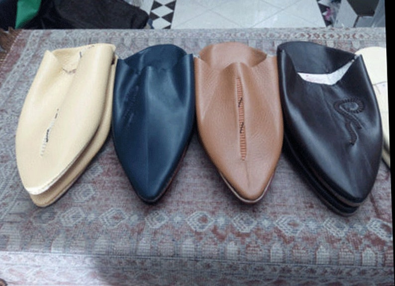 80b4f0c51c8de Moroccan Traditional Babouches Handmade Leather Slippers for Men, Handmade  Leather, Halloween shoes - Moroccan babouche