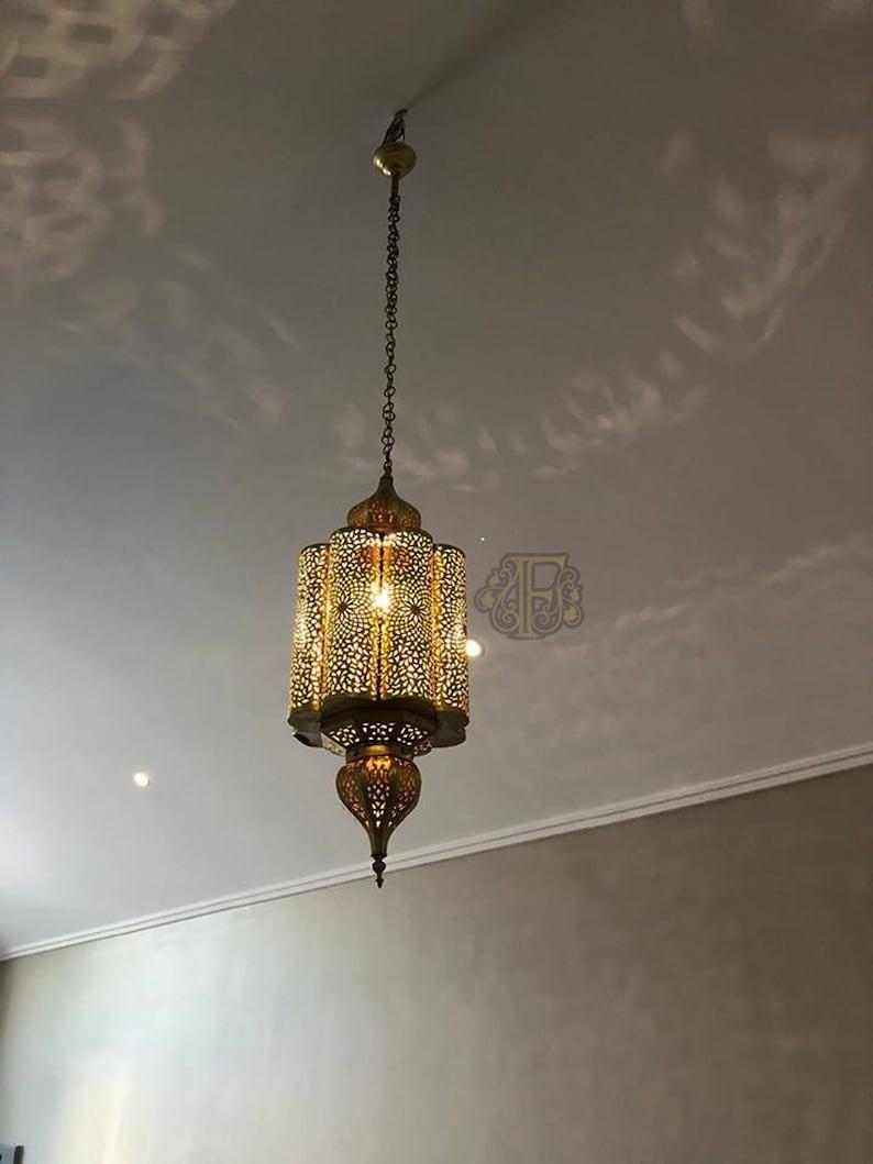 La Moderne MainSuspensionCuivre Gravé MarocaineMarocainÉclairageSuspension Main Lampe Design À Marocaine IfY7gymb6v