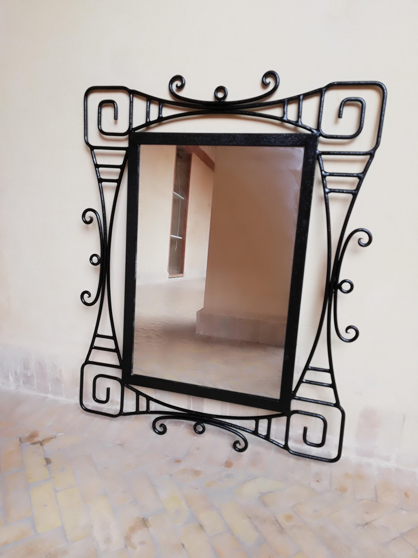 Wrought Iron Mirror Wall Mirror Wrought Iron Large Etsy