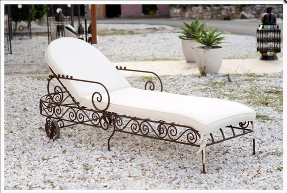 Astounding Outdoor Furniture Chaise Lounge Chair Beach Wrought Iron Bed Wrought Iron Relax Wrought Iron Sunbed Gmtry Best Dining Table And Chair Ideas Images Gmtryco