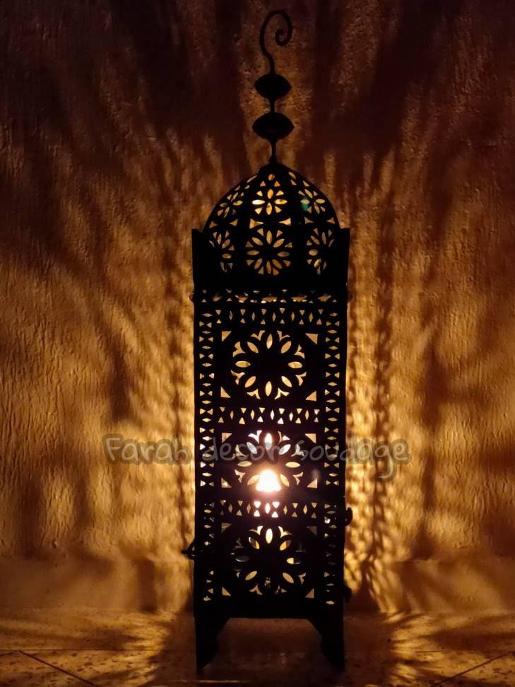 Moroccan Lanterns Boho Candle Holder, Large Moroccan Outdoor Lanterns Uk