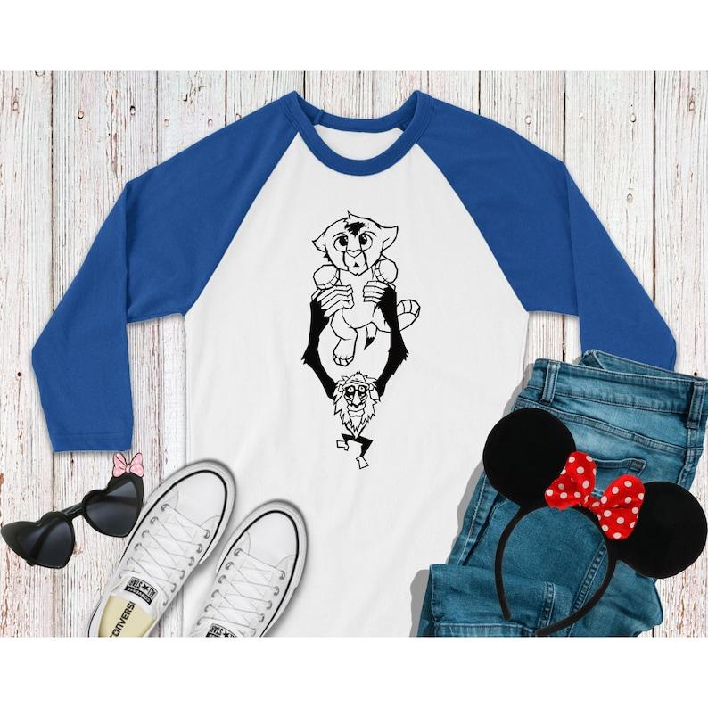 Baby Simba Unisex Baseball 34 Sleeve T-Shirt Inspired by The Lion King Women/'s Unisex T-Shirt Summer Vacation Disneyland