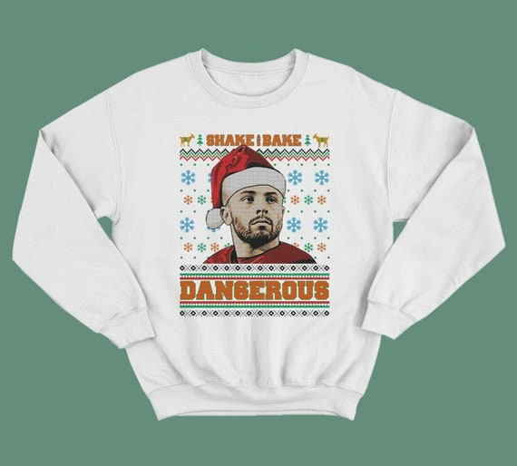 Baker Mayfield Christmas Ugly Sweatshirt Dangerous Baker Etsy