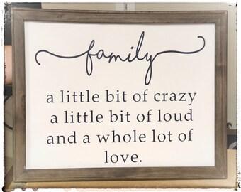 Crazy Family Quotes Etsy