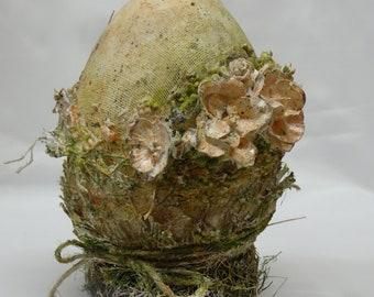 Mixed media egg | Handmade