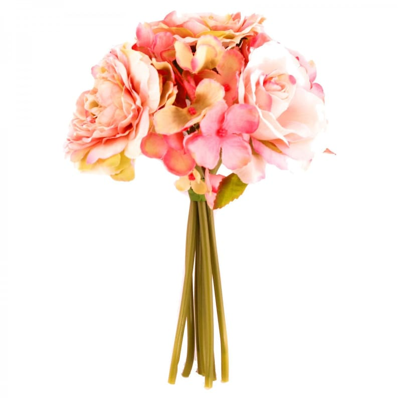 Rose and Hydrangea Bouquet Vintage Pink 18cm