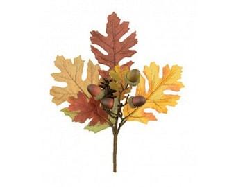Autumn Oak Leaf, Acorn and Pine Cone Pick 30cm