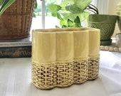 McCoy Planter, Yellow Basket Planter, McCoy Pottery, Vintage Planter, Vase, Vintage, Ceramic Planter, Home Decor, Ceramic Container, Basket