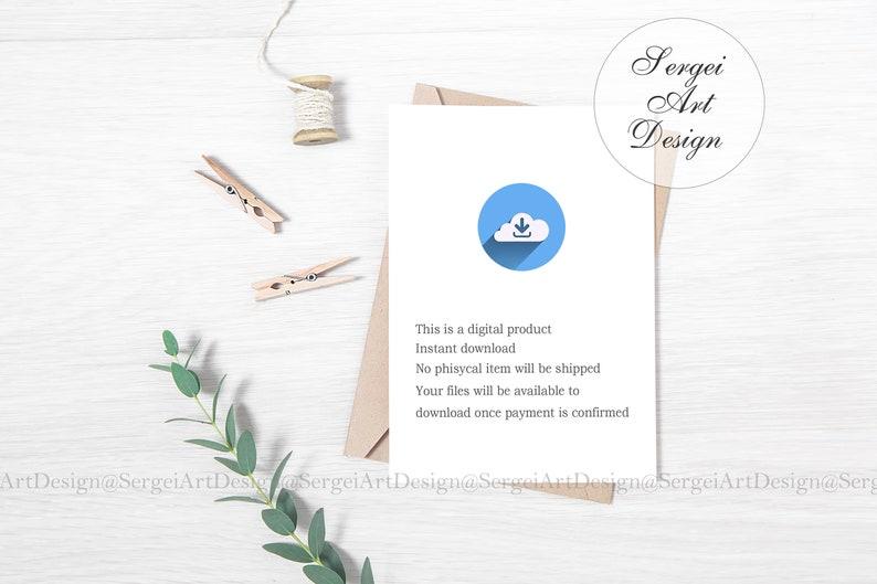 5x7 Wedding Invitation Mockup JPEG PSD Smart Object | Etsy