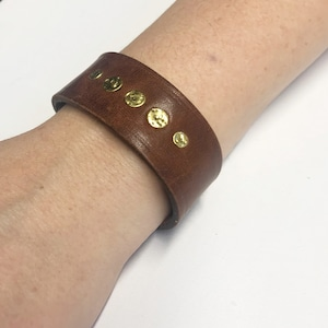 BR127 Christmas gift woman Leather Cuff Bracelet gold and white