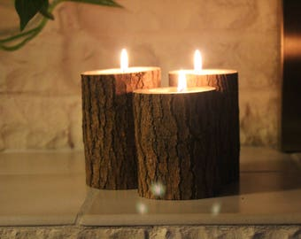 Wooden Candleholders