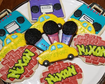 90s Cookies Party Birthday Hip Hop Theme Favors 1990s