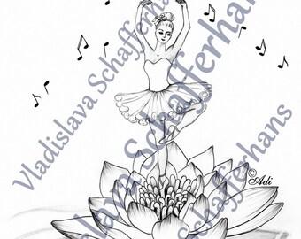 Arts Coloring page - BALLERINA