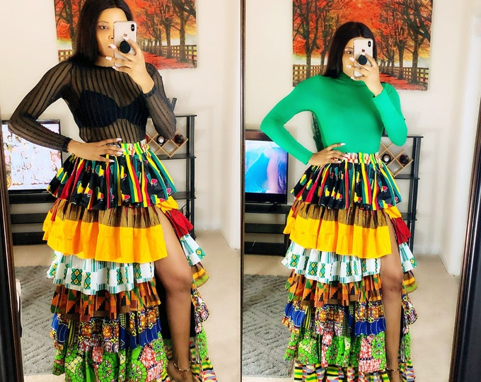 Ankara skirt, African prom dress, african bridal dress, dashiki dress, kente dress