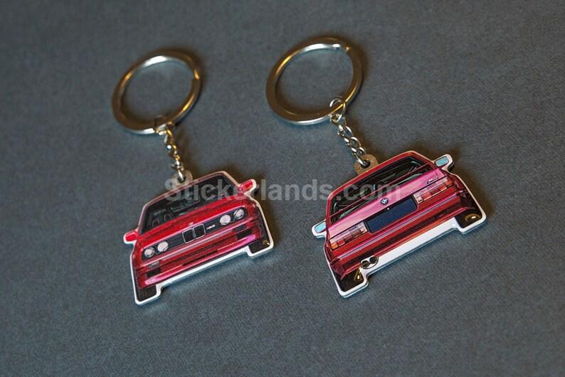 Bmw Key Chain M3 Key Ring Mpower S14b25 Evo Style Cecotto M20 325is S14b20 M Power Keychain 318is 320 Bmw E30