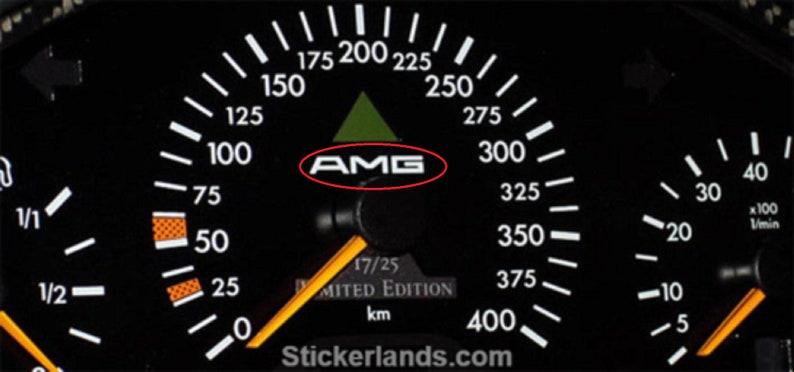 Mercedes Benz Amg Aufkleber Tacho W123 W124 W126 All Geschwindigkeitsmesse Old Logo Sticker For Tacho 560sec 500 Sel