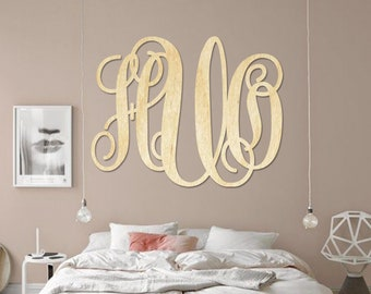 SALE SALE Item Large Wooden Monogram Wall Hanging Wall Monogram Home Decor Furniture Accessories Wall Accessories