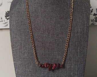 Brown Goldstone Chip Necklace