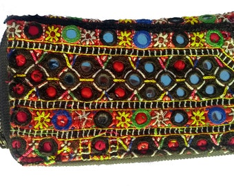 indian vintage banjara Hand purse tribal embroidery clutch ,ethnic indian purse desigerner money purse ,gypsy credit purse