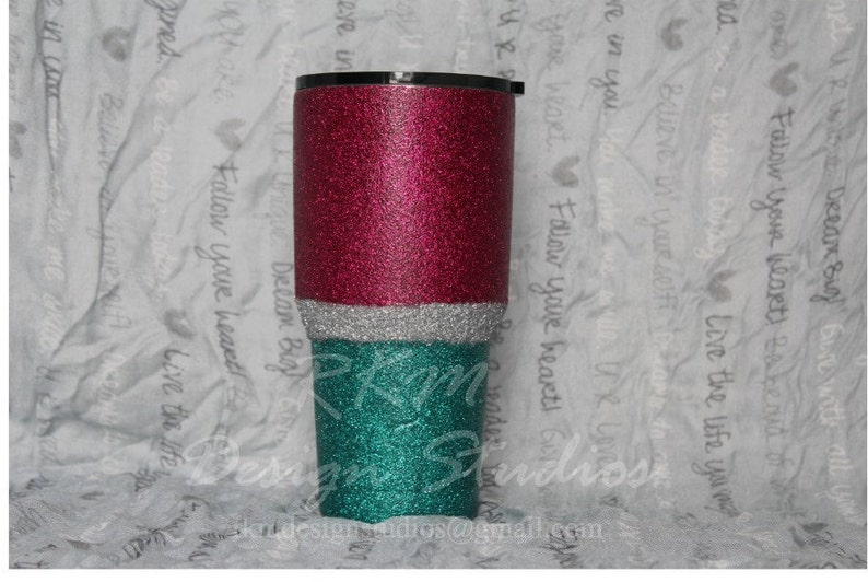 b17843b36ec Insulated 30 or 40 oz Stainless Steel Tumbler, Vacuum Sealed Glitter  Tumbler Stainless Steel Tumbler Colorful multi colored glitter tumbler