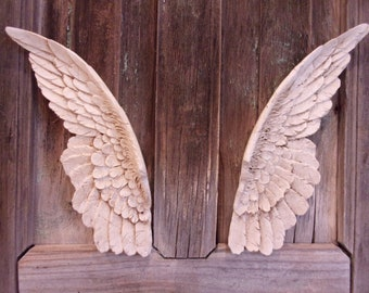 ANGEL WINGS SHABBY Chic Furniture Applique Craft Wall Decor ...
