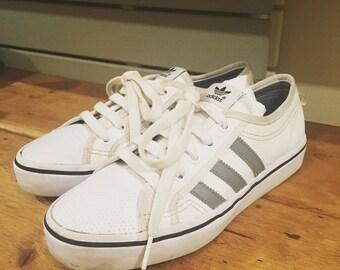 3a5323d20ef6 Retro adidas originals Nizza tennis trainers sneakers size 37 UK 4 vintage