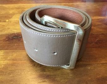 Beige Taupe Leather Mulberry Belt vintage