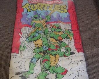 Vintage 80s Teenage Mutant Ninja Turtles Sleeping Bag