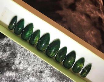 Green magnet nail polish express nails