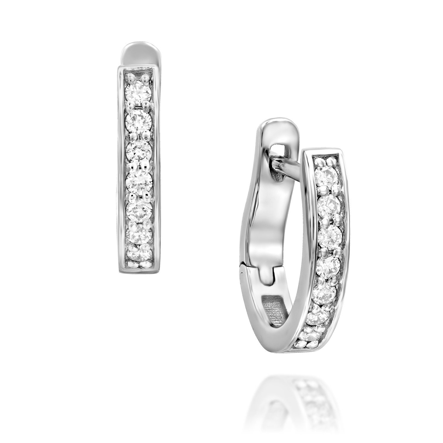 Diamond Hoop Earrings For Woman Diamond Hoop Earrings