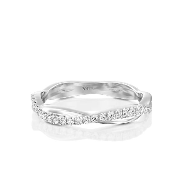 Criss Cross Diamond Ring Diamond Wedding Band Special Etsy
