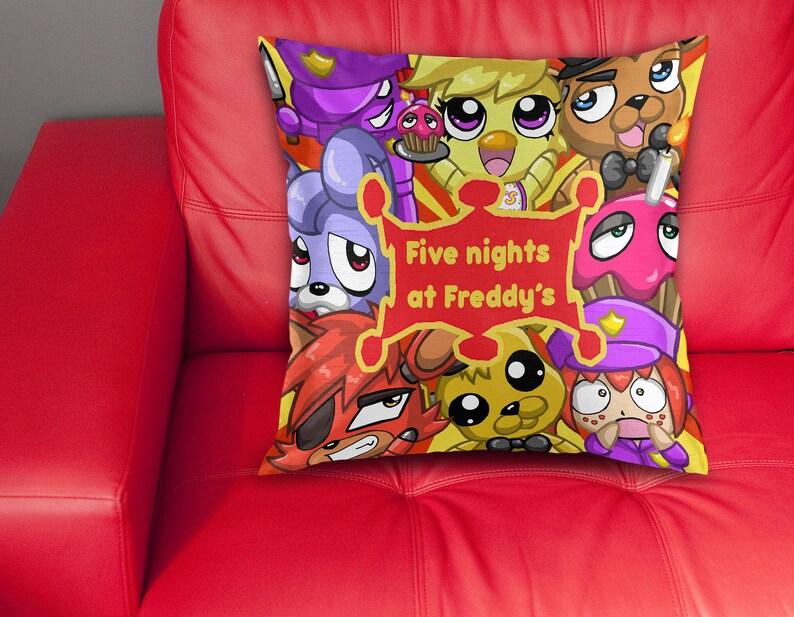 Fan made FNAF 1 cushion pillow ver 1 (16x16) video game gamer