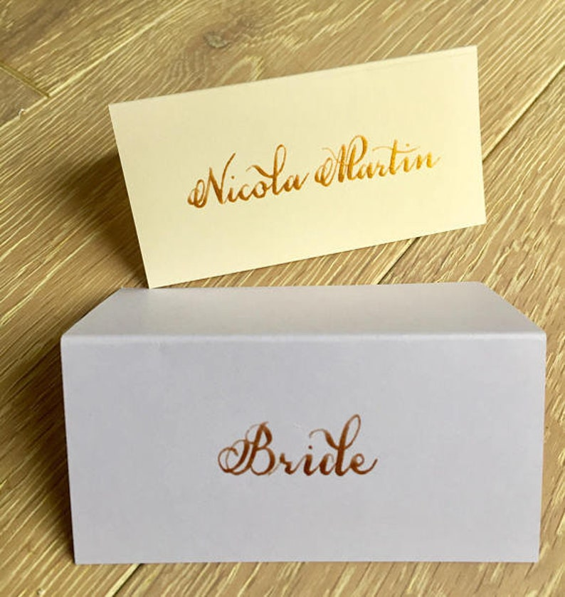 Handwritten Calligraphy Optional x25 Blank Name Setting in the Colour of Your Choice