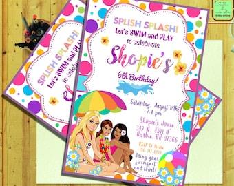 Barbie InvitationBarbie BirthdayBarbie Pool PartyBarbie Invitation CardBarbie PrintableBarbie Digital DownloadBarbie G7