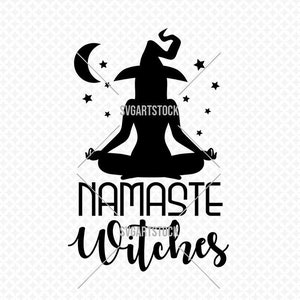 Lobsteray Namaste Witches Funny Yoga Witch Halloween Custom Laser Engraved Leather Bifold Wallet for Men