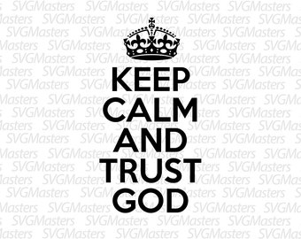 Keep Calm and Trust in God Winter Beanie Hat Knit Hat Cap for for Men /& Women