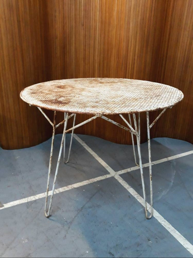 Table de jardin Mathieu Mategot circa 1955 | Etsy
