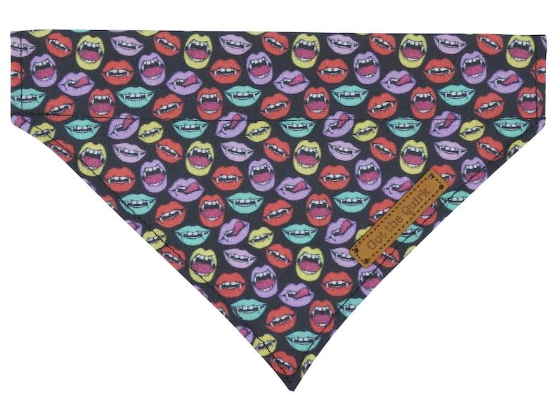 Fabric Cat Collar Slip on Cat Bandana Vampire Cat Bandana Cat Collar and Bandana Set Halloween Cat Bandana Cat Collar